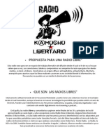 Legislacion de Las Radios Libres,