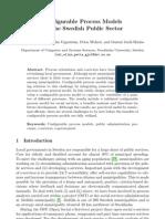 Configurable Process Models