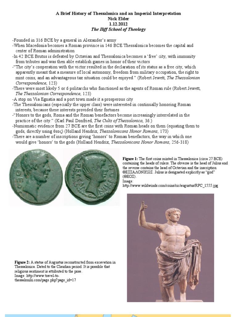 Empire Thessalonians Presentation Handout   Paul The Apostle   Acts