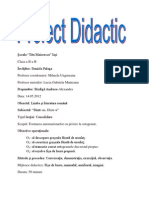 Proiect Didactic Dintr-o