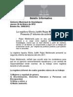 26-01-2012 La Regidora Gloria Judith Rojas Maldonado