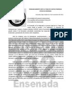 Pronunciamiento Al Gobierno Federal Toma de Caseta YoSoy132Ensenada