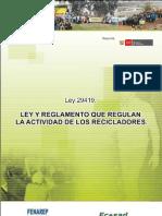 Ley y Reglamento que regula la Actividad de los Recicladores