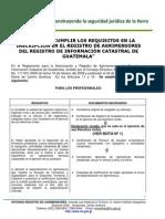 2011 Requisitos Inscripcion Registro Agrimensores Ric 1