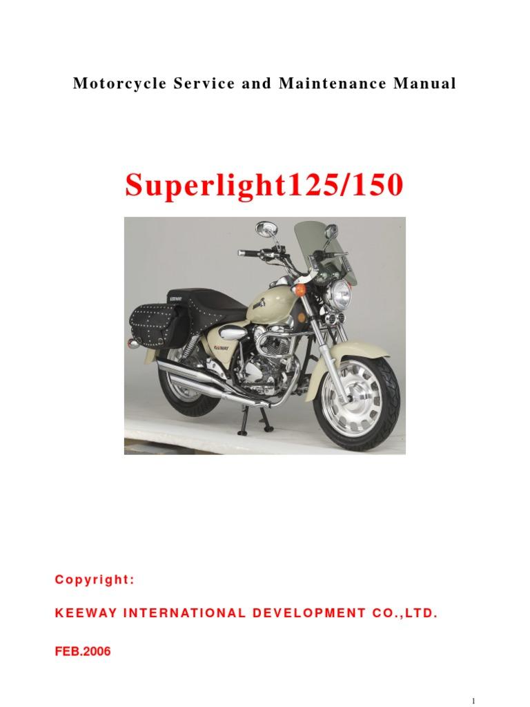 Manual Taller Superlight 125 CC (Idioma Ingles) | Internal Combustion  Engine | Piston