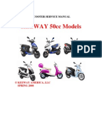 Manual General Taller Motos Keeway 50cc (Idioma Ingles)