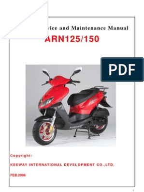 Scooter Service and Maintenance Manual: Keeway International ... on