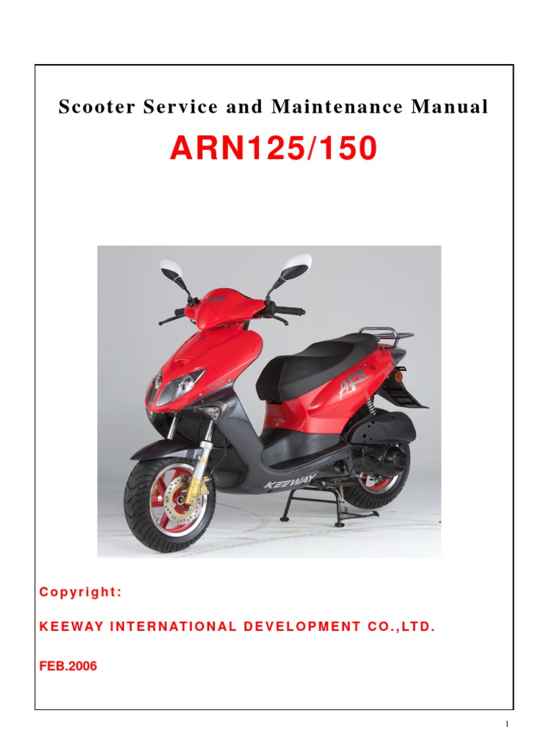 Scooter Service And Maintenance Manual Keeway border=