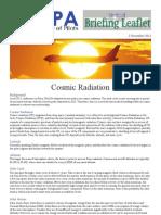 IFALPA - Cosmic Radiation
