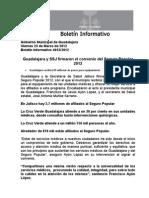 23-03-2012 Guadalajara y SSJ Firmaron El Convenio Del Seguro Popular 2012