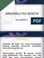 ABNORMALITAS GENETIK