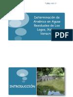 Determinación de Arsénico en aguas residuales de Los Lagos, Xalapa Veracruz
