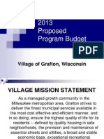 Grafton Village Board Public Hearing Nov. 17 2012