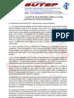 Comunicado Post Huelga 14-10-12