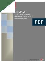 UNMSM 2013 I
