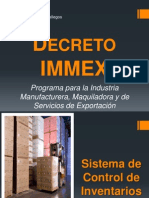 Decreto IMMEX-Control de Inventarios