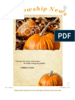 November 11, 2012 Fellowship News