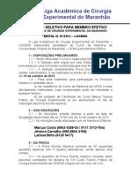 Edital Processo Seletivo LACEMA 2012