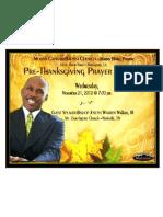 Pre Thanksgiving Prayer Meeting