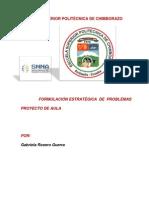 PROYECTO DE FORMULACIÓN ESTRATÉGICA DE PROBLEMAS