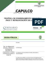 Informe de Fenamm sobre Préstamo de 213 millones a Ayuntamiento de Acapulco