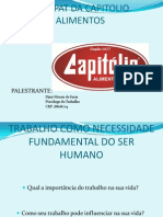 Palestra Trabalho Como Necessidade Fundamental Do Ser Humano