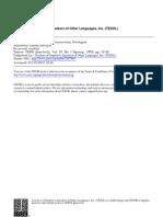 Dorneyi (1995) on the Teachability of Language Strategies