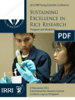 Sustaining Excellence in Rice Research