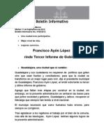11-09-2012  Francisco Ayón López rinde 3er informe de Gobierno