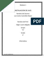 Instalacion de AVG