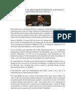 Codigo Organico de Ordenamiento Territorial Autonomia y Descentralizacion