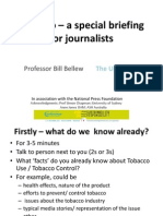 Tobacco- a special briefing for journalists
