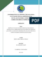 DISEÑO DE UN PLAN DE COACHING GERENCIAL PARA LOGRAR LA EFICIENCIA EN LA COMERCIALIZACION DE LOS PRODUCTOS AGRICOLAS QUE OFERTA  LA ASOCIACION AGROPRODUCTIVA DE CICLO CORTO DE LA COMUNA SAN MARCOS