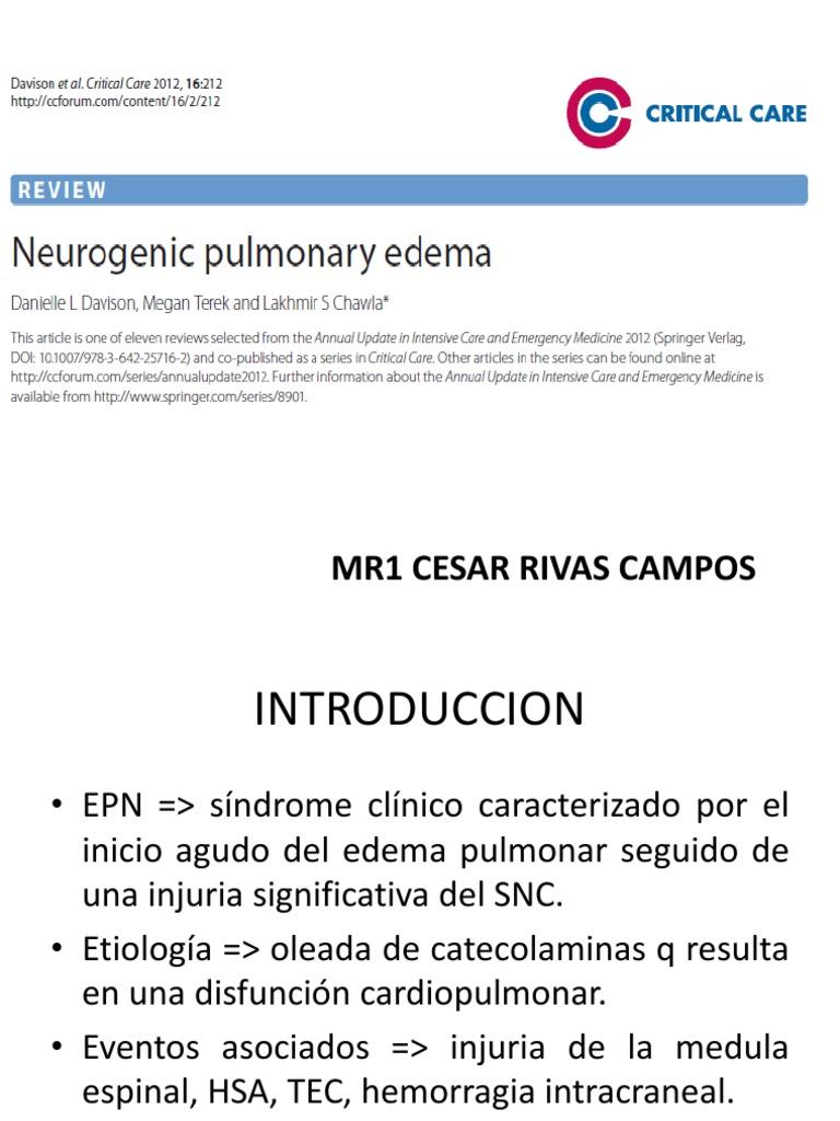 Pulmonar actualizado edema