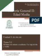 Cronograma de Temas y Exposiciones Historia Gral II