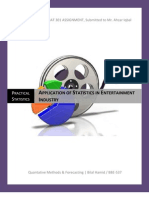 APPLICATION OF STATISTICS IN ENTERTAINMENT INDUSTRY