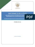 13. Informe de Avance EITI-GUA, Octubre 2012