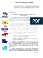 JFC Press Release on the Ninth Foreign Investment Negative List (13 November 2012)