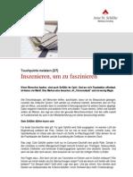 Serie Touchpoints2 Inszenieren