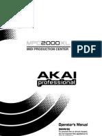 Akai MPC2000XL Operators Manual