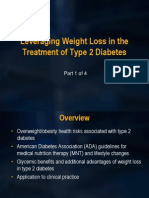 Leveraging Weight Loss Type 2 Diabetes 2012 Part 1 of 4