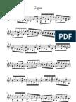 Johann Sebastian Bach Gigue E Minor BWV 966 Without Fingering