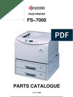 Kyocera FS-7000 Parts Manual