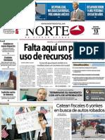 Periodico Norte de Ciudad Juárez 13 de Noviembre de 2012