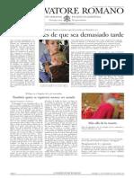 L´OSSERVATORE ROMANO. 11 Noviembre 2012