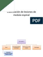Clasificación de lesiones de medula espinal(urgencias)