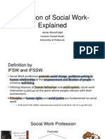 Definition of Social Work-Explained