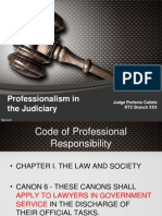 Judiciary and Professionalism