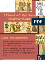Course Witchcraft and Superstition on Elizabethan Drama