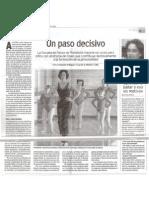 Un paso decisivo. El Norte de Castilla. Mayo 2001